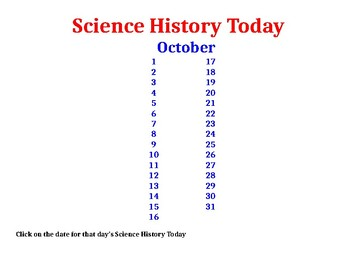 Science History Today: October