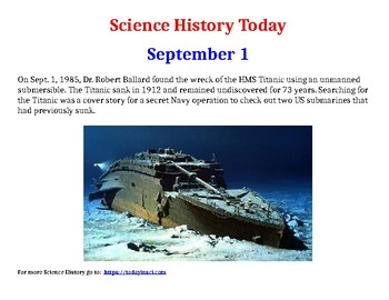 Science History Today - sample