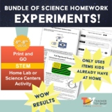 Science Homework Experiments BUNDLE  | Distance Learning