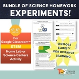 Science Homework Experiments BUNDLE | Google Slides™ for D
