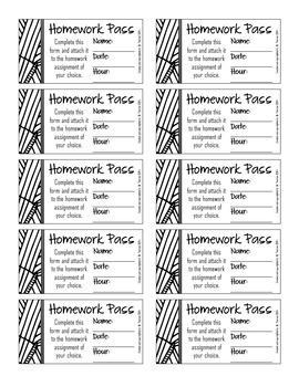 Homework Pass Reward