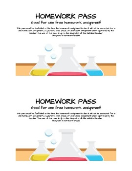 Science Homework Pass