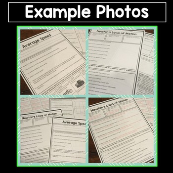 Science Homework Sampler - 5 Activity Sheets with Answer Keys