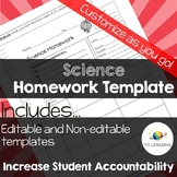 Science Homework Template