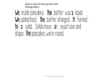 Science-How Heat Changes Solids, Liquids, Gases (Pancakes)