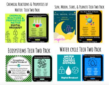 Science Hyperdoc and Digital Breakout Bundle: Water, Ecosystems, Sun, & Matter