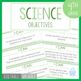 Science I CAN 4th Grade Objectives