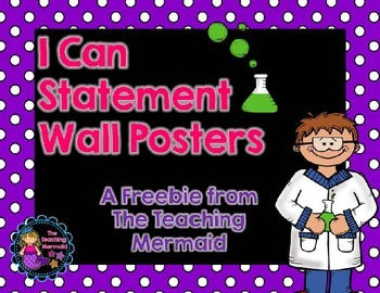 Science I Can Statement Posters Bulletin Board Header