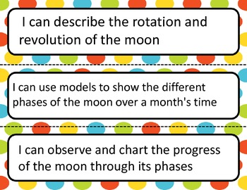 Science I Can Statements