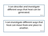 "Science ""I Can"" Statements--4th Grade (Indiana)"