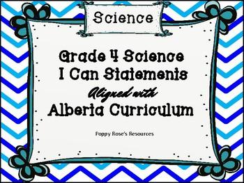 Science I Can Statements - Alberta