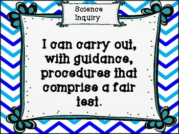 Grade 4 Science I Can Statements - Alberta