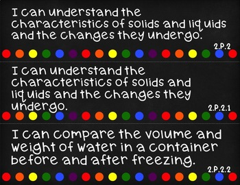 Science I Can Statements for 2nd Grade