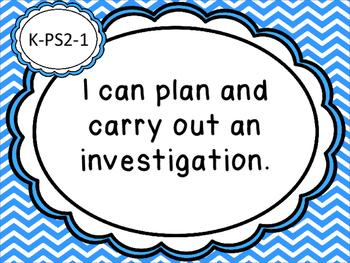 Science I Can Statements for Kindergarten Michigan Standards