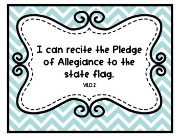 """Social Studies """"I Can"""" Statements for Pre-K and Preschool"""