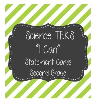 """Science """"I Cans"""" TEKS 2nd Grade"""