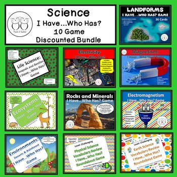 Science I Have...Who Has? Games 10 Discounted Games
