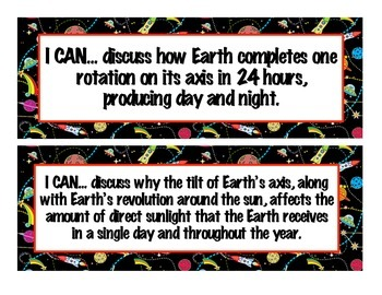 Science 'I cans' posters