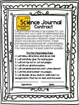 Science INB Set-up pages