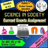 Science In Society | Current Events Assignment | Handout, Rubric, and Example