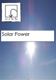 Science Information and Worksheet - Solar Power