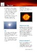 Science Information and Worksheet - The Sun