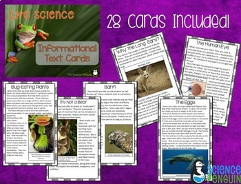 Science Informational Text Cards Bundle