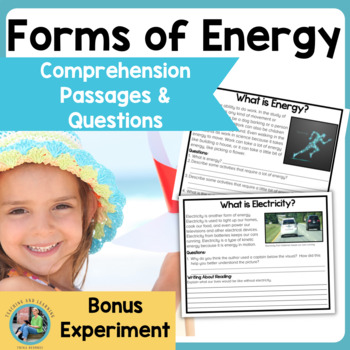 Forms of Energy: Science Reading Comprehension Passages