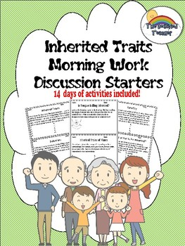 Science Inherited Traits Morning Work Activities Writing Prompts