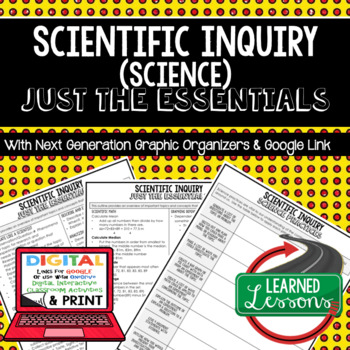 Science Inquiry Just the Essentials Content Outlines, Next Generation Science
