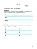 Science Inquiry Lab Report Template