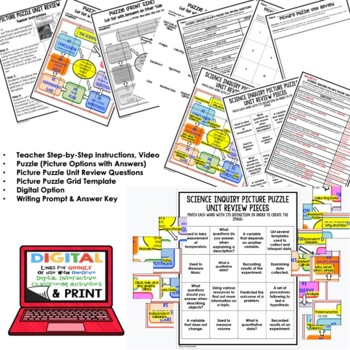 Science Inquiry Picture Puzzle Study Guide Test Prep