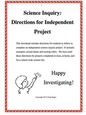Science Inquiry Project Packet