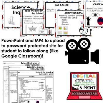 Science Inquiry, Scientific Method Guided Notes and PowerPoints NGSS, Google