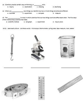 Science Inquiry Test