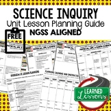 Science Inquiry Lesson Plan Guide for NGSS Science, Back T