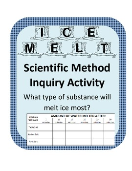Winter Scientific Method Inquiry- What substance will melt ice most effectively?