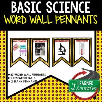 Science Inquiry and Basic Science Word Wall Pennants (Science)