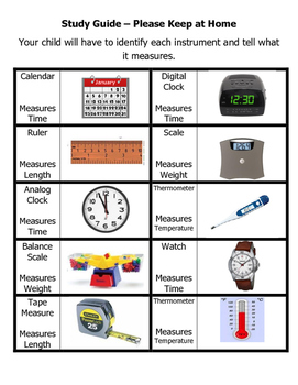 Science Instruments Study Guide