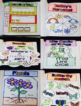 Science Interactive Notebook for Kindergarten