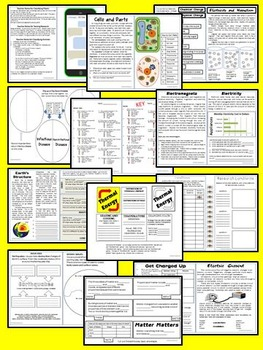 Science Interactive Notebook 5th grade covering GPS