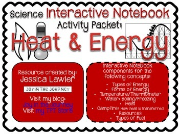 Science Interactive Notebook Activities: Heat and Energy