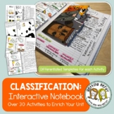 Science Interactive Notebook - Classification - Distance Learning