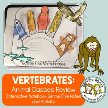 Vertebrate Animals - Interactive Science Notebook Activity