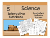 Science Interactive Notebook: Constructive & Destructive Forces
