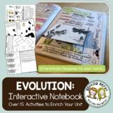 Evolution, Natural Selection & Adaptation - Interactive Notebook Activity Pack