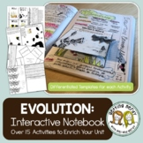 Evolution, Natural Selection & Adaptation - Interactive Notebook Activity Pack