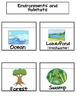 Science Interactive Notebook Flip Flaps for Habitats and Environment