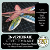 Dissection - Invertebrate Animals Bundle - Distance Learning