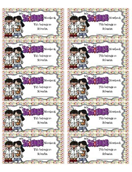 Science Interactive Notebook Labels